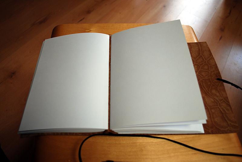 Blanco boeken in leer gebonden