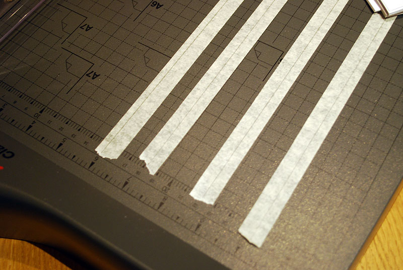 Papiertape op bed
