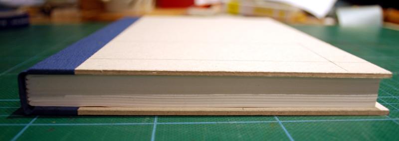 Het boekblok past mooi in de band