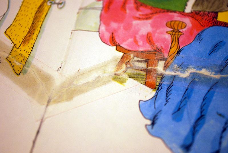 Na reparatie met papiertape