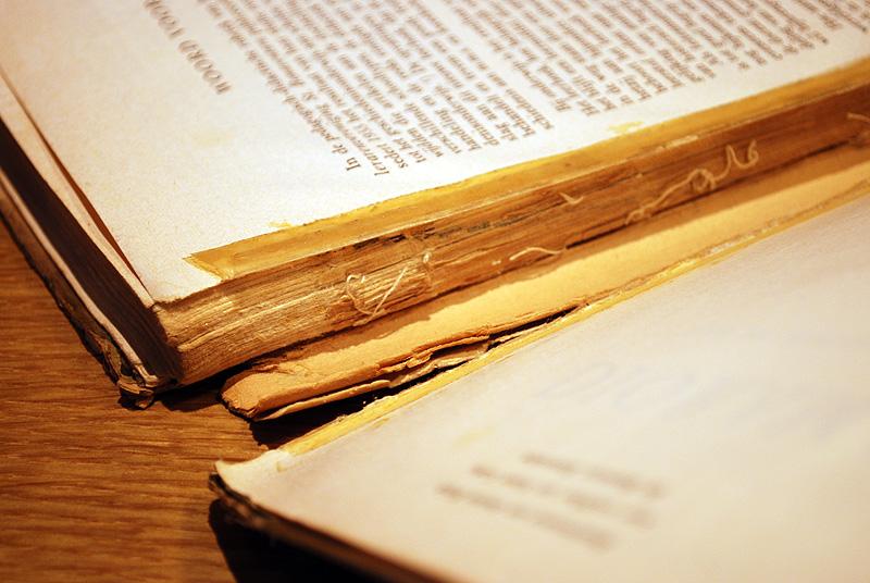 Uitgescheurd boekblok